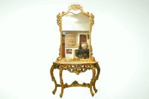 Set consola si oglinda baroc