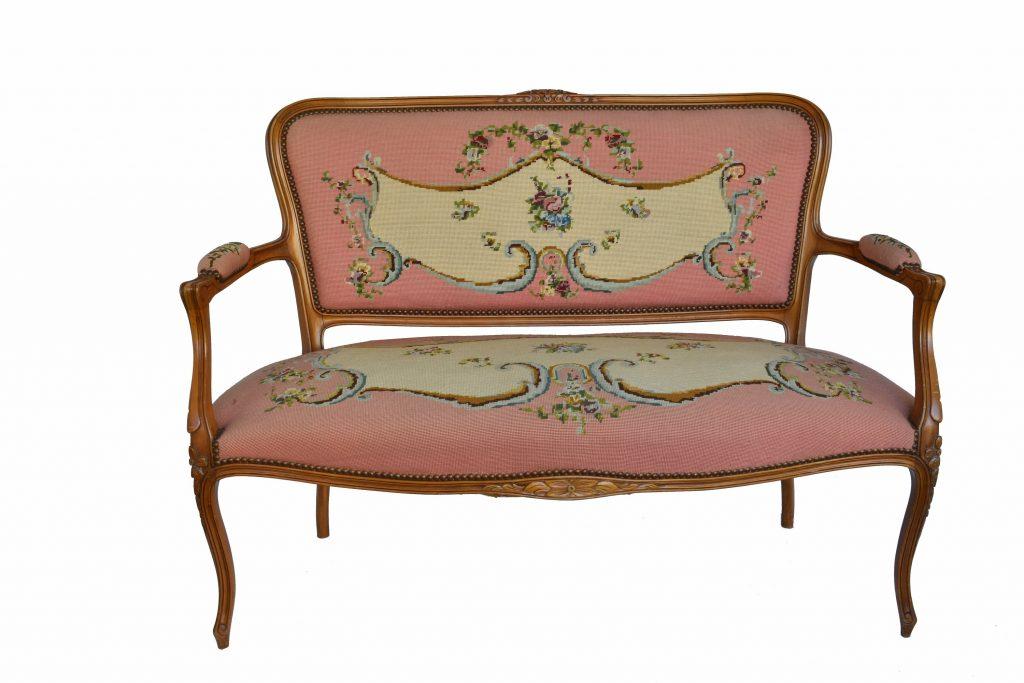 Set canapea si 2 fotolii Louis al 15 lea