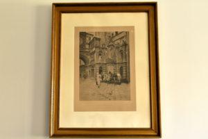 Gravura 1888 A La Fontaine