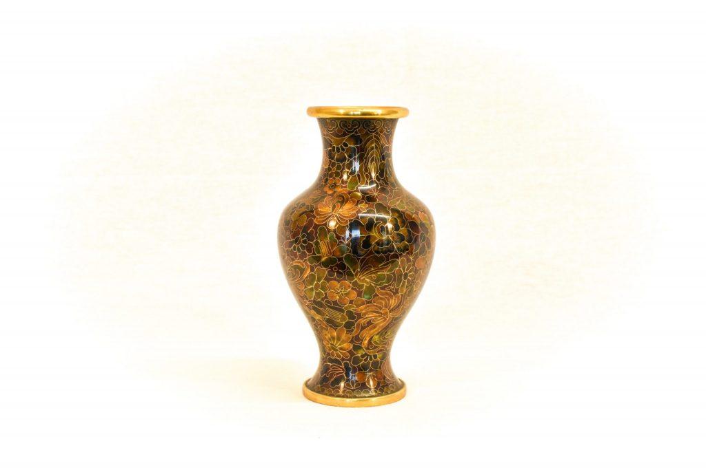 Vaza Cloisonne maro