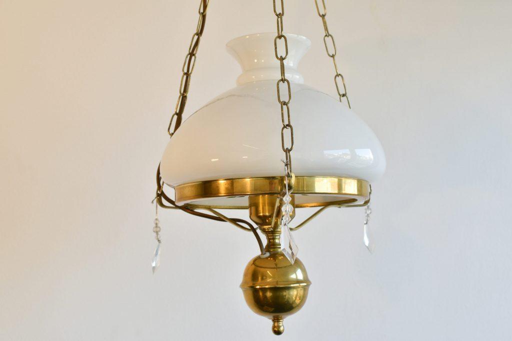 Lampa opalina din bronz