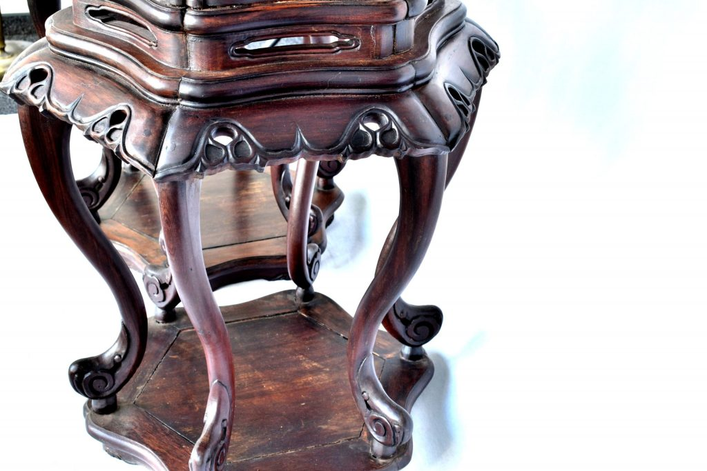 Set două măsuțe din lemn de palisandru