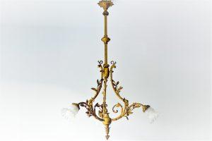 Candelabru bronz aurit 1920