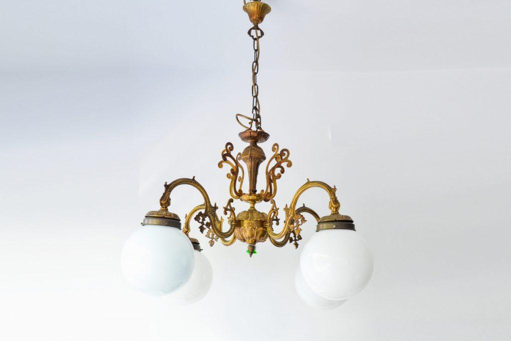 Candelabru din bronz masiv aurit