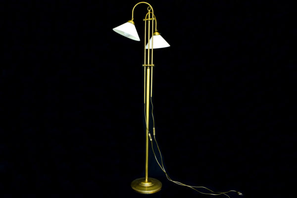 Lampadar din bronz si alama