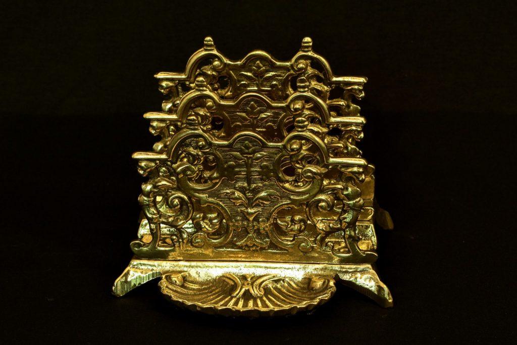 Suport scrisori baroc din bronz