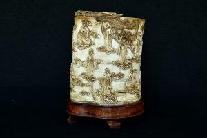 Vas din fildes pentru pensule dinastia Qing