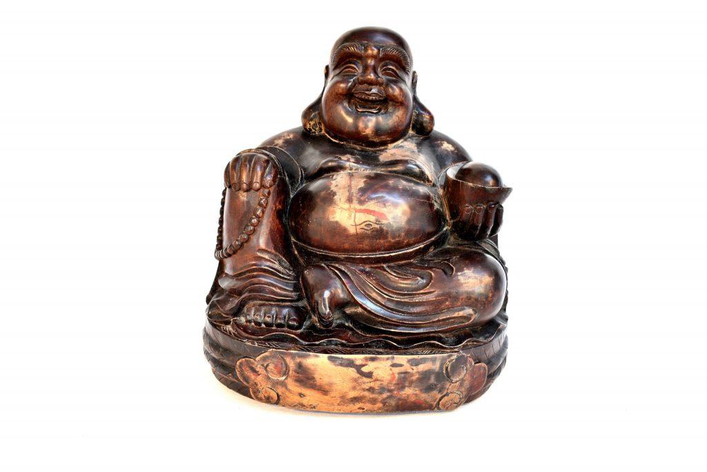 Statueta Buddha din lemn exotic
