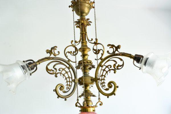 Lustra Art Nouveau cu scripeti
