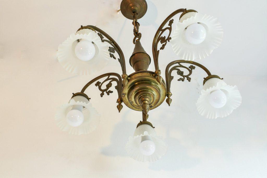 Lustra Art Nouveau cu 5 becuri