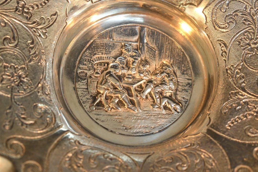 Scrumiera din argint mare