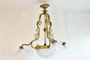 Lustra Rococo din bronz aurit