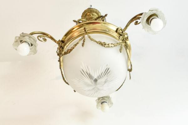 Lustra victoriana din bronz aurit