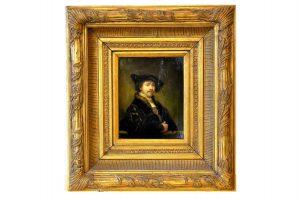Autoportret Rembrand la 34 ani