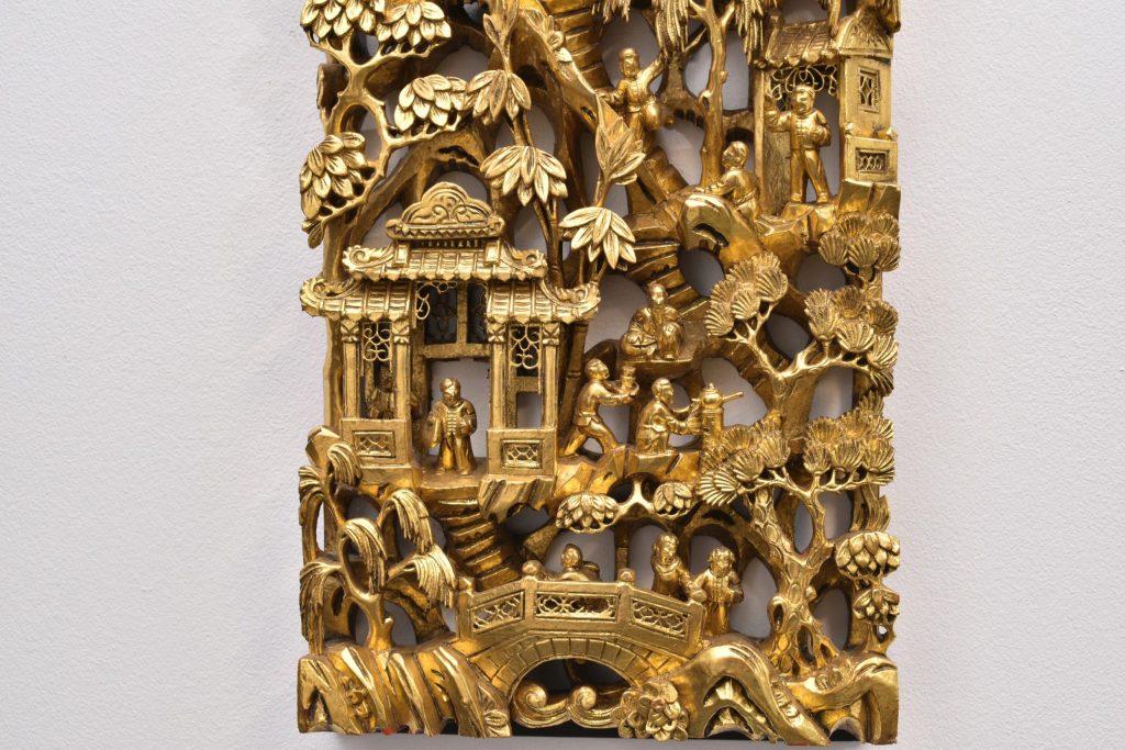 Panou chinezesc din lemn sculptat