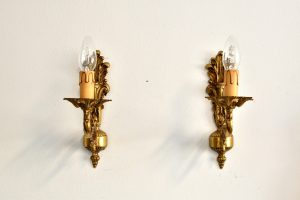 Set doua aplice din bronz masiv cu un brat