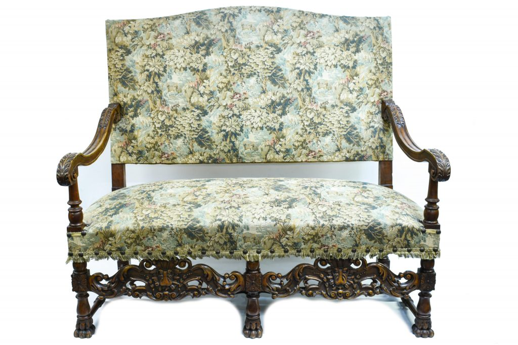 Set canapea cu 2 fotolii renastere franceza