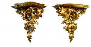 Set 2 console Louis al XV lea